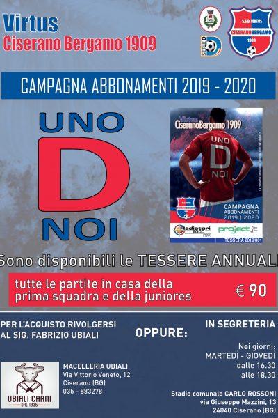 """Galleria """"UnoDnoi"""", ufficializzata la campagna abbonamenti della Virtus CiseranoBergamo 2019/2020"""