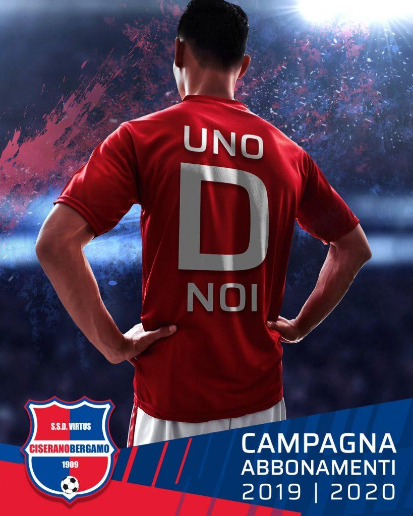 """""""UnoDnoi"""", ufficializzata la campagna abbonamenti della Virtus CiseranoBergamo 2019/2020"""