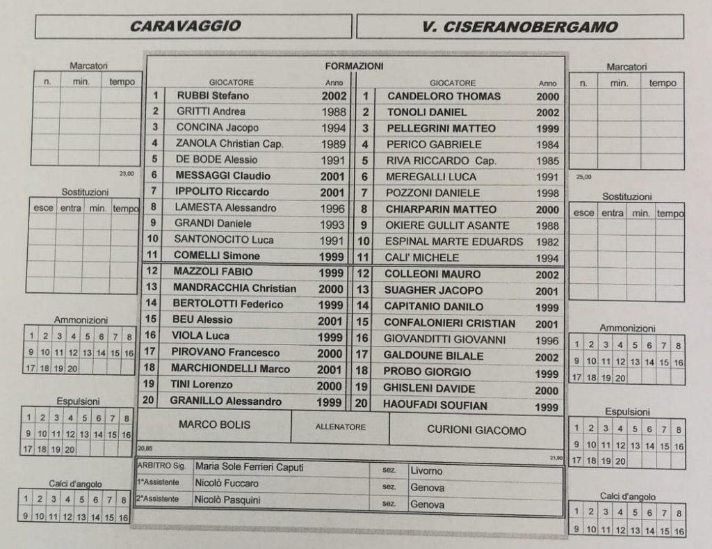 Segui il live di Caravaggio-Virtus CiseranoBergamo (risultato finale 3-3): pareggia l'ex Zanola dalla distanza