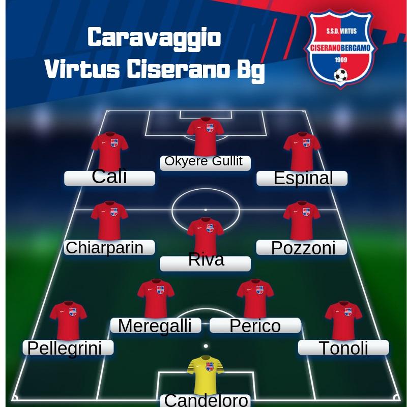 PHOTOGALLERY e VIDEO- Pareggio rocambolesco della Virtus CiseranoBergamo a Caravaggio (3-3): non bastano i gol di Gullit, Espinal e Calì