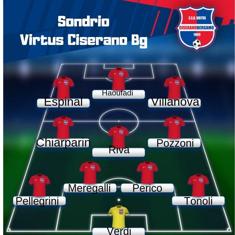 Segui il live del match tra Sondrio e Virtus CiseranoBergamo (finale 1-0): decide il gol al 15′ di De Respinis