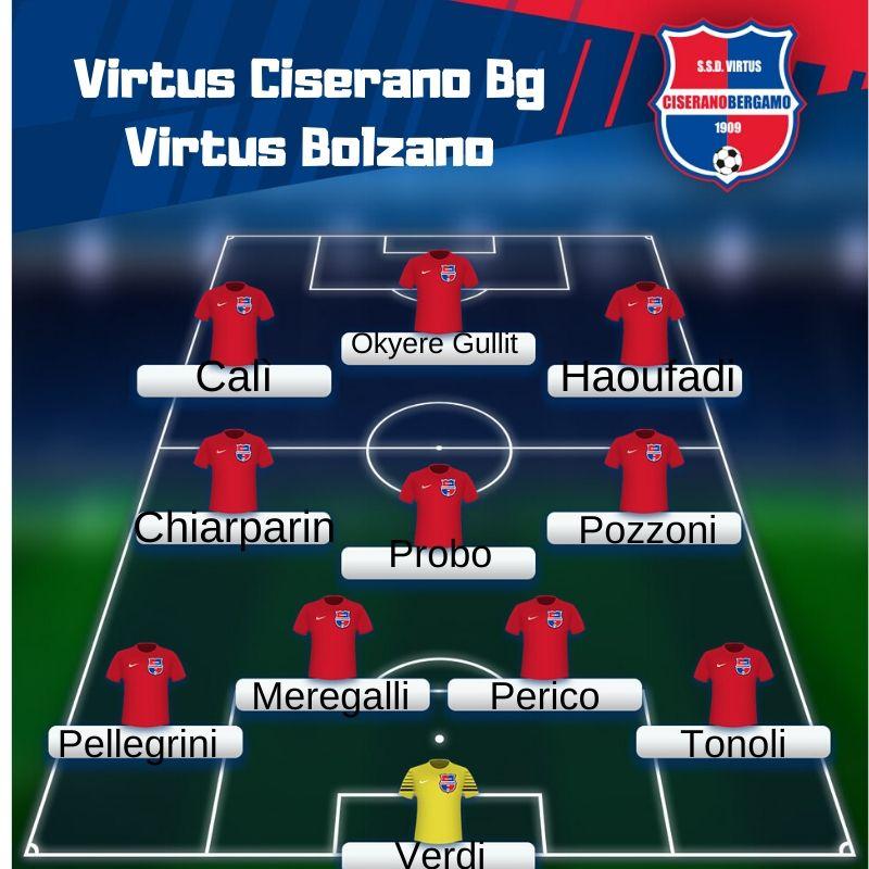 Segui il live del match tra Virtus Ciserano Bergamo e Virtus Bolzano (risultato finale 2-2): Kaptina pareggia dopo un'azione più che dubbia