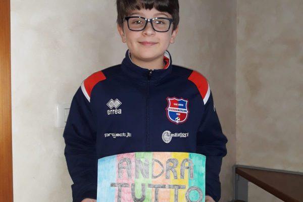 Galleria #Andràtuttobene: i pensieri dei ragazzi del settore giovanile Virtus Ciserano Bergamo