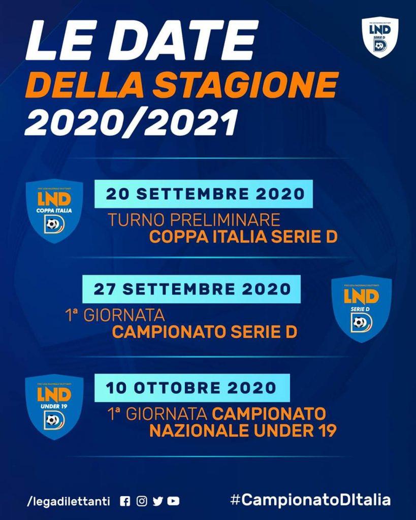 Le date della stagione di Serie D 2020-2021: campionato al via domenica 27 settembre