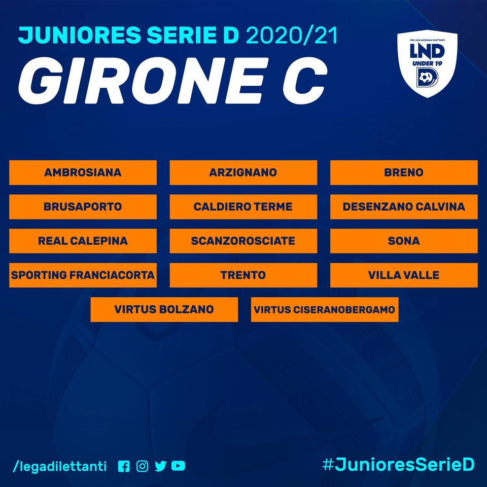 Il girone C della Juniores Nazionale 2020-2021: le avversarie dei ragazzi di mister Togni