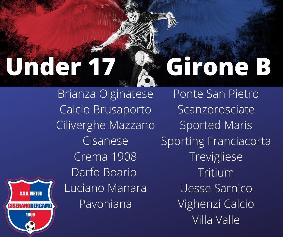I gironi delle formazioni impegnate nei campionati regionali Under 17, Under 16 e Under 15