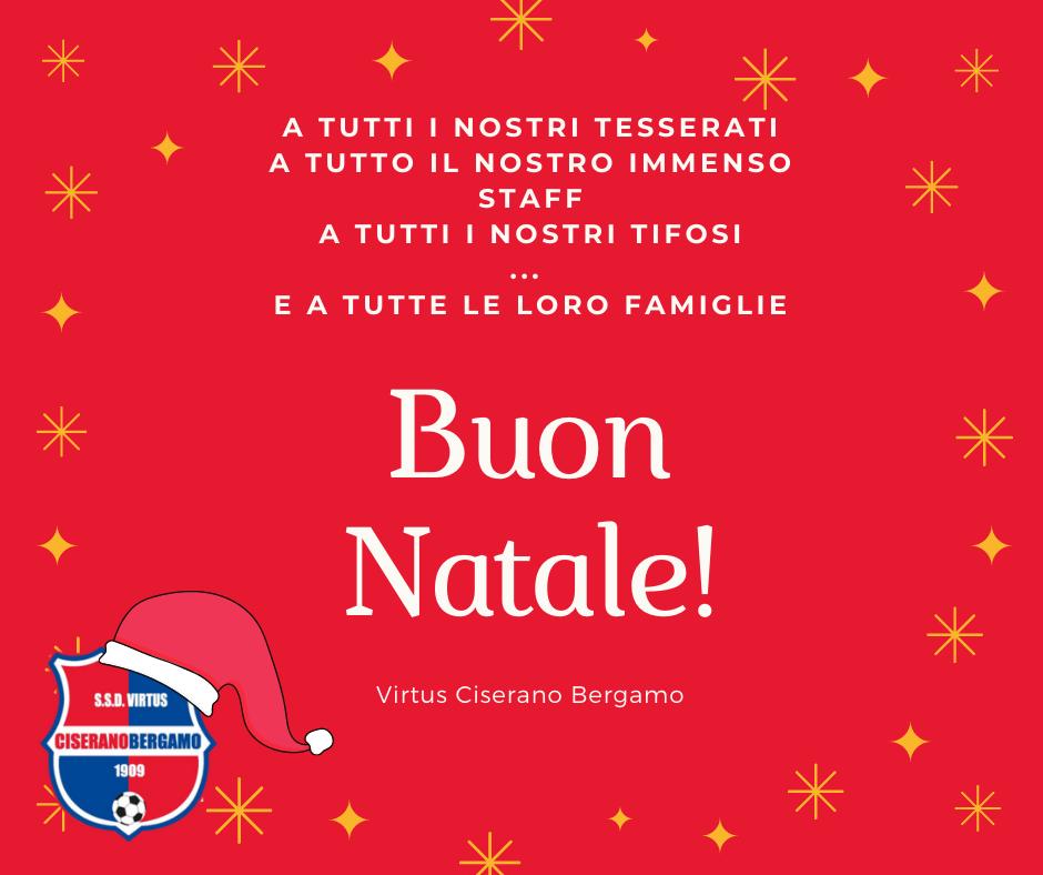 Auguri di Buone Feste dalla Virtus Ciserano Bergamo