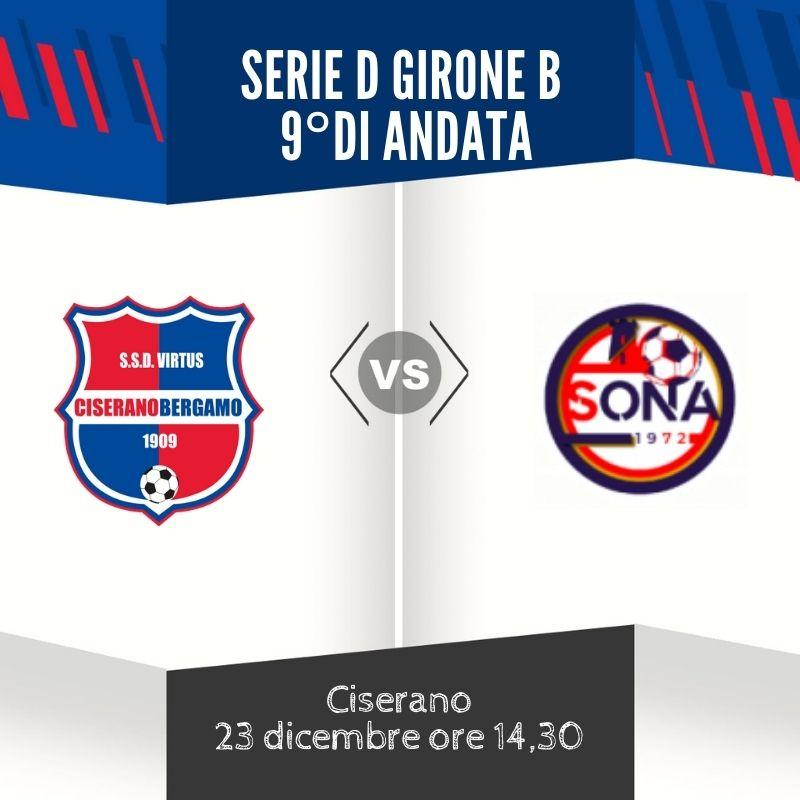 Virtus Ciserano Bergamo-Sona in diretta su facebook: risultato finale 3-1