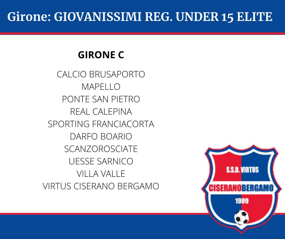 I gironi delle categorie giovanili Under 17, Under 16 e Under 15 per la stagione 2021-2022