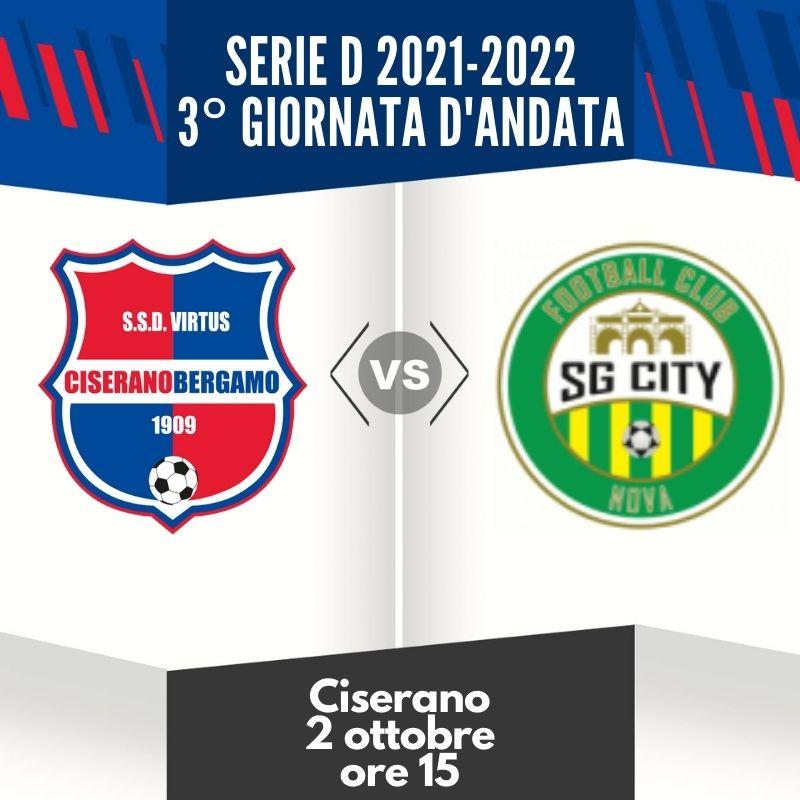 Virtus Ciserano Bergamo-City Nova in anticipo il 2 ottobre: lo stesso giorno inizia ad Alzano il campionato della Juniores